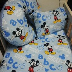 Mickey Mouse Nursery Bedding Sets, How To Make Bed, Little Ones, Mickey Mouse, Amazing, Fabric, Color, Tejido, Tela