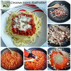 Deliciosa y rápida receta de pasta: espaguetis a la boloñesa de Cocina para Disfrutar