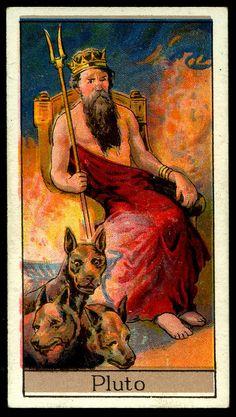 "Cigarette Card - Pluto. ""Mythological Gods & Goddesses""."
