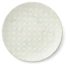 One Kings Lane - A Classic Combination - S/4 Reactive Glaze Plates, Soft Teal