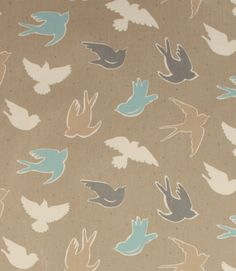 Up To Off Curtain and Upholstery Fabric Curtain Material, Curtain Fabric, Curtains, Tablecloth Fabric, Sea Birds, Bird Design, Nautical Theme, Fabric Design, Upholstery