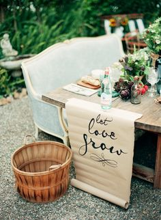 10 ways to use quotes in your wedding: http://www.stylemepretty.com/2014/07/29/10-ways-to-use-quotes-in-your-wedding/ | Photography: http://loveisabird.com/
