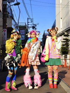 Kawaii Harajuku Japan Japanese Decora Fasion- I just want her octopus bag!