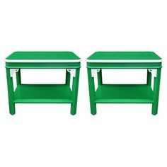 Check out this item at One Kings Lane! Chippendale-Style End Tables, Pair