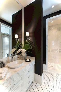 Luxury Black and White Bathroom Ideas 74