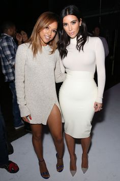 With model Karrueche Tran at Teyana Taylor's VII listening event in Hollywood. Getty Images  - ELLE.com