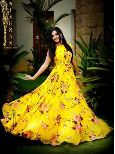 Frock Models Frock For Women Yellow Gown Frock Design Indian Gowns Anarkali Dress Lehenga Western Dresses Simple Dresses Long Gown Dress, Frock Dress, Saree Dress, Long Frock, Chiffon Dress Long, Frock Design, Designer Gowns, Indian Designer Wear, Stylish Dresses