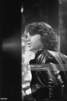 Doors singer Jim Morrison (1943 - 1971) making a television appearance in Britain, circa 1970.