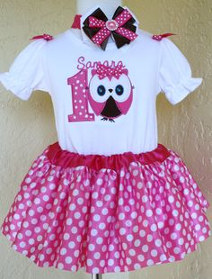 Hey, I found this really awesome Etsy listing at https://www.etsy.com/listing/165604674/girly-owl-first-birthday-onesie-and-tutu
