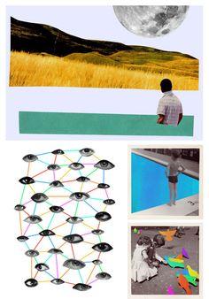 Love these collages by artist Hayley Warnham
