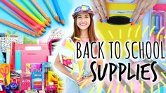Back To School Supplies Haul 2014 + DIY School Supplies! Maybaby aka MegDeangleis!