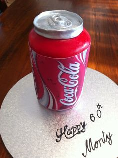 Coke can cake Coke Cake, Beverages, Drinks, Homemade Cakes, Coca Cola, Soda, Canning, Cola Cake, Drinking