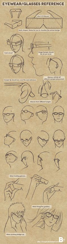 Eyewear/Glasses Reference by Boogol.deviantart.com on @deviantART