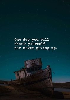 One day you will thank yourself for never giving up life quotes quotes quote inspirational quotes life quotes and sayings Motivational Quotes For Employees, True Quotes, Spirit Quotes, Funny Quotes, Giving Up, Success Quotes, Leadership Quotes, Life Lessons, Quote Of The Day