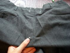 Altering the stride (crotch) on men's pants tutorial