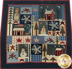 Winter Solstice Pattern: This design by Jan Patek features wonderful winter blocks. This pattern includes all instructions for the 73