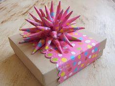 Caixa de presente decorada | Artesanato Que Faz