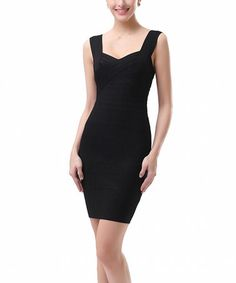 Look what I found on #zulily! Black Felicia Bandage Sleeveless Dress by Phistic #zulilyfinds