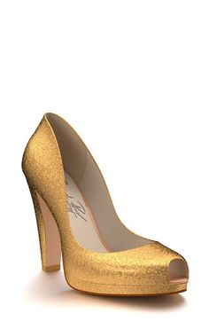 Shoes of Prey Glitter Platform Pump (Women) available at #Nordstrom