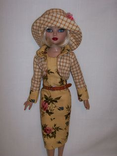 "OOAK Outfit for 16"" Ellowyne Pru Lizette Amber Autumn 