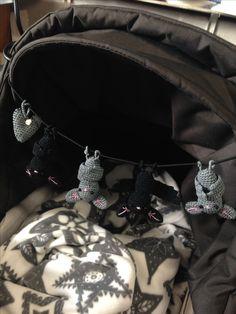 Crochet Bats Baby Stroller Mobile