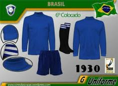 Brazil goalkeepers kit for the 1930 World Cup Finals.