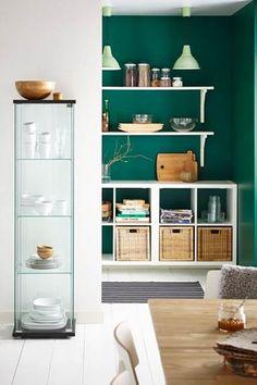 El verde nos ayuda a revitalizar y refrescar una habitación.