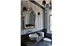 siiver powder room