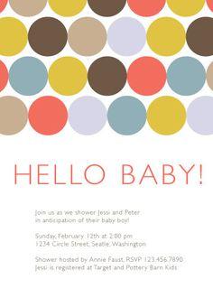 Hello Baby!  shower invites