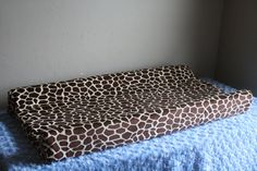 Giraffe Minky Contour Changing Pad Cover