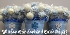 party favors for a winter birthday | ... Cake Pops: Winter Holiday Cake Pop Gifts / Corporate Holiday Gifts