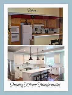 Kitchen Remodel {REVEAL} WOW. You have to see all the pictures.. the transformation is unbelievable.