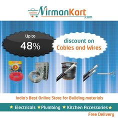 Up To 48% discount on #Electrical #Cables and #Wires. https://www.nirmankart.com/buy/electrical/cables_wires … Browse #NirmanKart.com for more offers