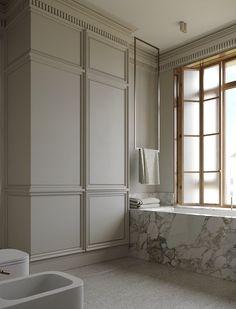 Master Shower, Master Bathroom, Home Room Design, House Design, Warehouse Renovation, Brown Bathroom, Bathroom Inspiration, Bathroom Ideas, House Rooms