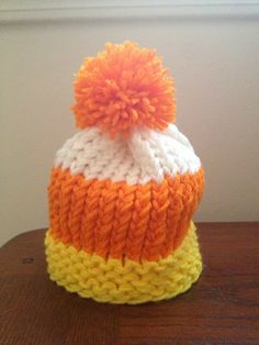 Hey, I found this really awesome Etsy listing at http://www.etsy.com/listing/161965020/baby-knit-hat-halloween-candy-corn