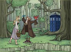 Disney Princesses Meeting the Doctor in the TARDIS - Aurora