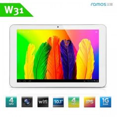 "(RAMOS) W31 10.1"" IPS Screen Android 4.0 Quad-core Tablet PC w/ Camera CPU ARM Cortex A9 family 1.5GHz RAM 1GB HD 16GB"