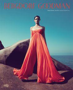 Perfect Combo from Bergdorf Goodman Resort 2013 Magazine Zuhair Murad, Strapless Dress Formal, Formal Dresses, Peach Dresses, Ralph Lauren, Mode Editorials, Fashion Editorials, Orange And Turquoise, Ethnic Dress
