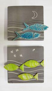 Κάρτες Τοίχου Greeting Cards - My site Hand Built Pottery, Slab Pottery, Ceramic Pottery, Ceramic Art, Ceramics Projects, Clay Projects, Clay Crafts, Clay Fish, Deco Originale