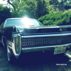 Chrysler Imperial (front) by JOAQUIN MONTALVAN via Flickr | #car #chrysler #imperial #green #blue #chrome #iphoneography