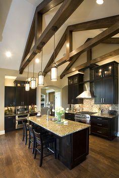 kitchen lighting vaulted ceiling | Kimberly Ann Homearama Photo Gallery | Homearama Builder - Cincy Tri ...