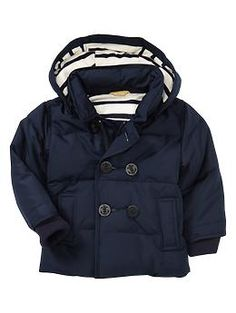 Peacoat puffer jacket   Gap  So close to ordering this for Charlie's fall jacket!  So cute.