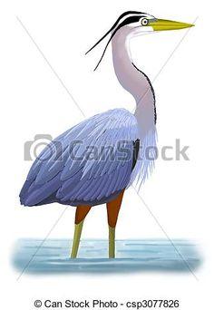 Heron Illustrations and Clip Art. 911 Heron royalty free ...