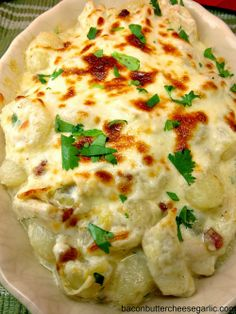 Chicken & Gnocchi Alfredo...so tasty and the Alfredo sauce is homemade!