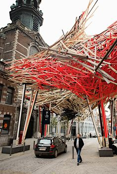 Arne Quinze - Wooden Installation 'The Passenger' Mons, Belgium, 2014 Artistic Installation, Art Archive, Public Art, Urban Art, Architecture Details, Sculpture Art, Contemporary Art, Street Art, Mons Belgium