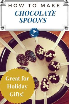 This delicious chocolate spoon recipe is easy to make but hard to put down.  Great in hot cocoa coffee or even by itself, and they make wonderful teacher and holiday gifts.