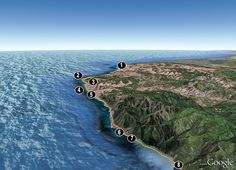 Coastal: Lost Coast Trail, CA | Backpacker Magazine This 26-mile trek along California's coast should have been a highway...except it was too riddled with cliffs to build on. by: Dave Miller, Map by Google Earth*