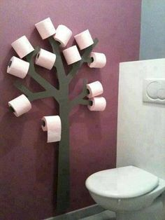 love it - be fun to do it with a head instead of tree -  like hair rollers