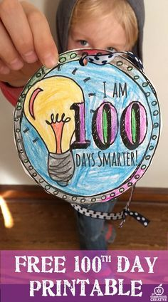 Need a FREE PRINTABLE medal for your 100th day activities? Look no further. Just click and print :)