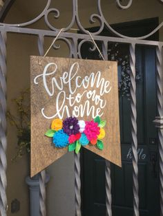welcome signs welcome to our home sign wooden banner front